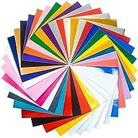 30x 30fogli di vinile adesivo permanente assortiti (34Confezioni), per Cricut, Silhouette Cameo, Craft Cutters, lettere, (Vinyl Artigianato Segni)