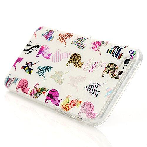 Mavis's Diary Hohe Qualität Schutzhülle iPhone 6(4.7 Zoll) Case Cover Bunte TPU Silikon Material Bunt Katzen Muster Stylisches Designer Case Handy Tasche Etui Bunt Butterfly