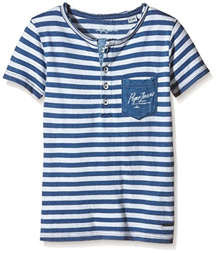 pepe-jeans-trevor-t-shirt-a-rayures-garcon-bleu-indigo-fr-12-ans-taille-fabricant-12-ans