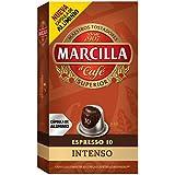 Marcilla Café Espresso Intenso - Intensidad 10 - 10 Cápsulas de aluminio compatibles con cafeteras Nespresso®* - 4 Paquetes de 10 Unidades
