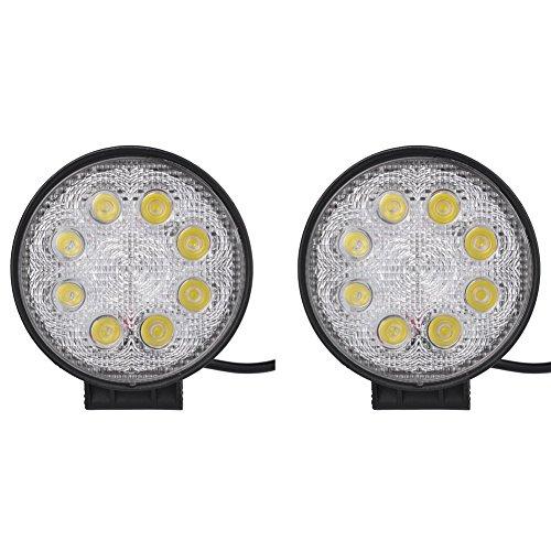 """Preisvergleich Produktbild 2-Pack 4.3 """"24W 6000K 10-30V DC Tageslicht LED Arbeitsscheinwerfer Strahler Nebelscheinwerfer"""
