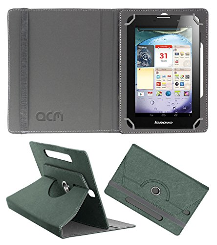 Acm Designer Rotating Leather Flip Case for Lenovo Ideapad A3000 Cover Stand Grey  available at amazon for Rs.169