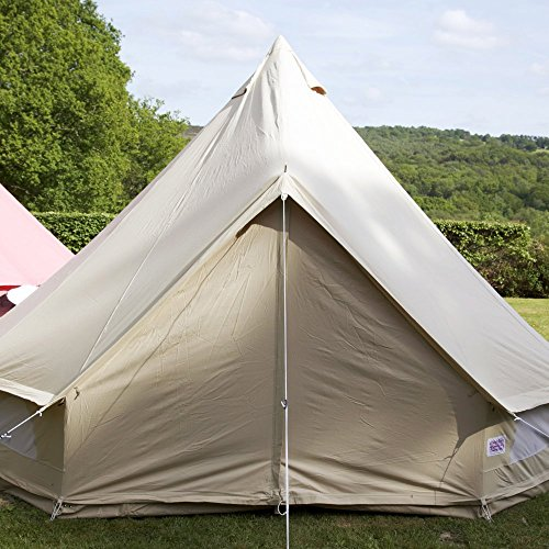 51Jp8ukyXPL. SS500  - Boutique Camping 6m Sandstone Bell Tent With Zipped in Ground Sheet Single Door