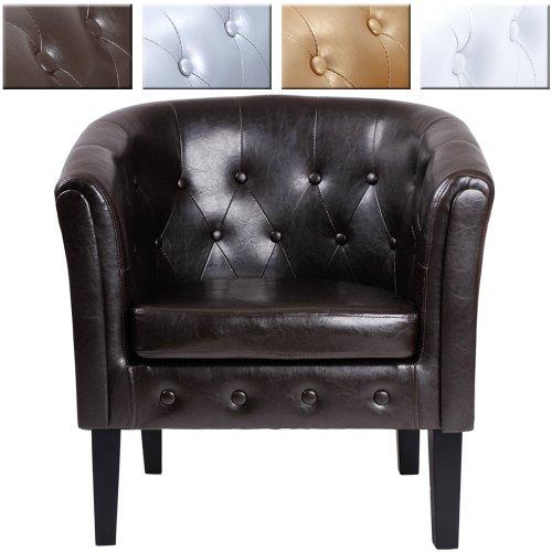 Miadomodo Chesterfield-Design Sessel Wohnzimmermöbel (Braun)
