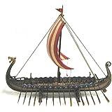 Barcos vikingos y dragones Wikingder en el personaje de la cabeza