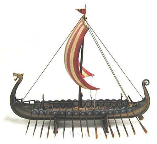 Viking Ship With Dragon Head - Model