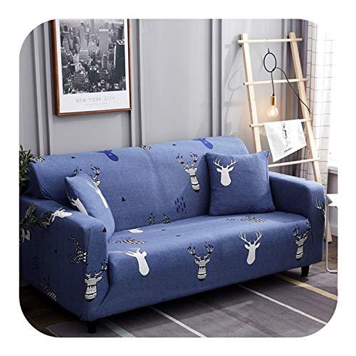 Agust D Universal-Elastic-Sofa-Abdeckung All Inclusive Rutschhemmende Sofabezüge für Wohnzimmer Stretch Couch Abdeckung 1/2/3/4 Seater, Farbe 20,2Pcs Pillowcase Fall -