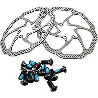 """gymforward 2pc Discos de Freno de Bicicleta de montaña 7 """"rotores bicicleta AVID Cleansweep Elixir BB5 BB7 Acero Inoxidable Rotor con tornillos de 12"""