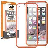 Orzly - Coque FUSION Bumper Case pour Apple iPhone 6 PLUS & 6S PLUS (5.5 Pouces Modèle - 2014 & 2015) Antichocs - Coque Rigide avec Bordure Renforcée ORANGE spéciale absorption d'impact avec dos 100% transparent