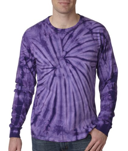 Pliuegy 5.4 oz., 100% Cotton Long-Sleeve d T-Shirt 2Purple Spider