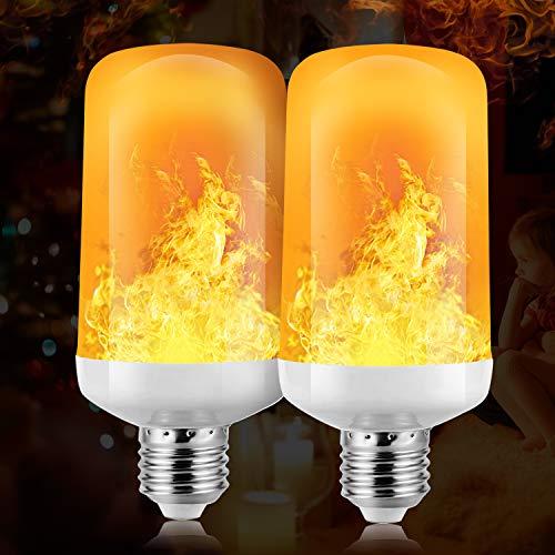 Bombilla de llama,Funxim Bombillas LED con efecto de llama con 3 modos...
