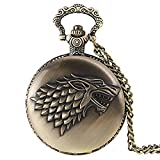 House Stark Game Of Thrones Premium Watch Pendant / Pocket Watch 4.5 cms Diameter
