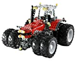 Tronico 10083 - Metallbaukasten Traktor Massey Ferguson MF-8690 mit Zwillingsbereifung, Profi Serie, Maßstab 1:16, 1057-teilig, rot