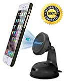 Car Phone Holder - JEBSENS CM03 New Magnetic Cradle-less Car Mount Phone Holder Windshield Dashboard Mount, Compatible With All Smartphones - Super Strong Magnetic Grip - MONEY BACK GUARANTEE!