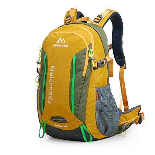Outdoor-Bergsteigen-Tasche/Rucksack/Männer und Frauen auf Fuß Outdoor-Taschen-grün 40L gelb
