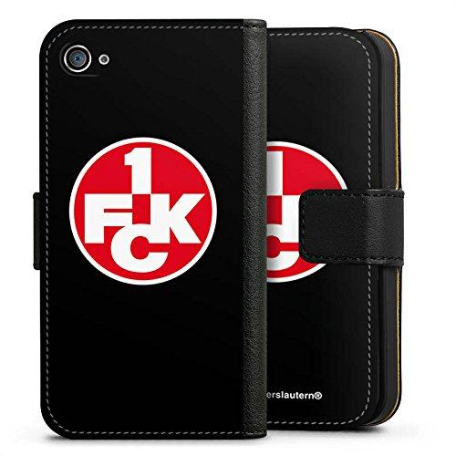 Apple iPhone 6 Hülle Case Handyhülle 1. FC Kaiserslautern Fanartikel FCK Fussball Sideflip Tasche schwarz