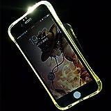König-Shop Leuchtende Handy-Hülle LED Cover Samsung Galaxy S6 Edge Transparent Durchsichtig Bumper Case