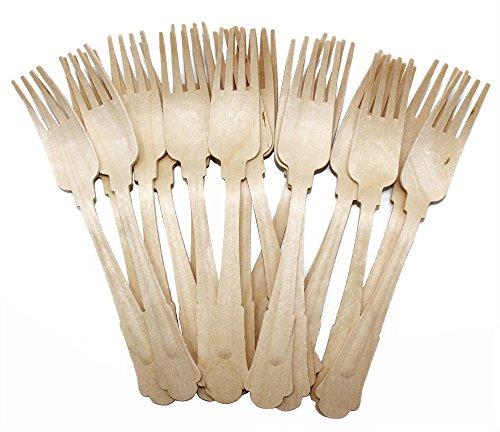 19.7 cm en bois Couverts fourchettes Bois Fourchette avec manche élégant
