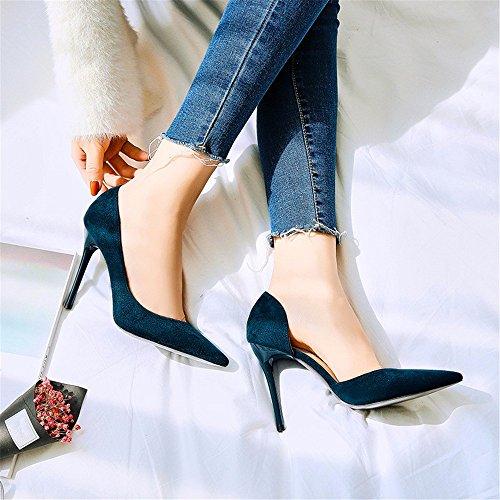 FLYRCX In autunno e in inverno, onorevoli colleghe con tacco suggerimenti, sexy scarpe con i tacchi alti e scarpe D