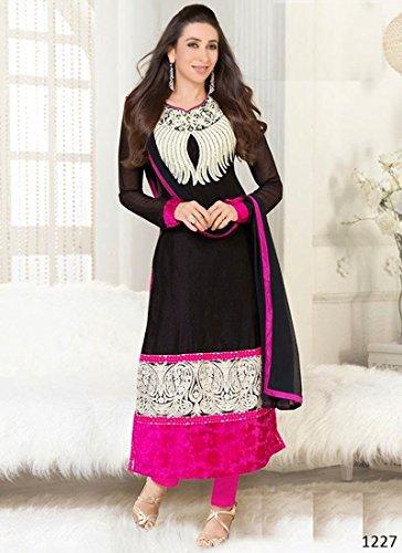 Anera Deal New Designer black Color georgete Fancy party wear Salwar Kameez Suit With Dupatta