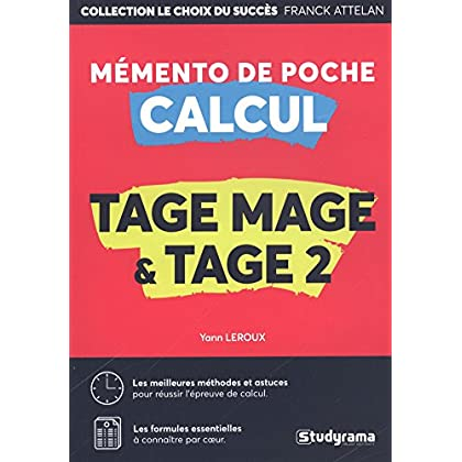 Mémento calcul : Tage Mage/Tage 2