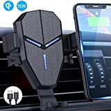 Wireless Car Charger, Avolare 15W QI Fast Car Charger Mount, Wireless Car Phone Holder Gravity Sensor 360°Rotation Holder With USB C Cable Compatible with iPhone Xs Max XR 8 Plus, Samsung S10+ S10e S9