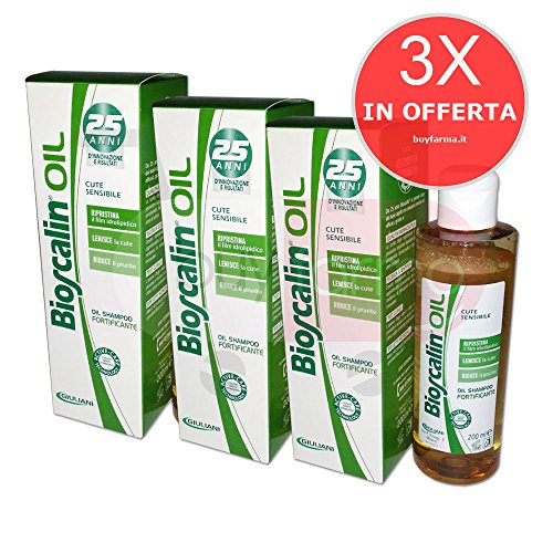 3X BIOSCALIN OIL - Oil Shampoo Fortificante Anticaduta Cute Sensibile - 200ml