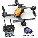 ScharkSpark Drohne SS41 Die Beetle Drohne mit 2 Kameras - 1080P FPV HD Kamera/Video und 720P Kamera, optischer Flugstabilisator, RC Spielzeug Quadcopter