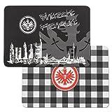 Eintracht Frankfurt Frühstücksbrettchen 2er Set (one size, schwarz/weiß)