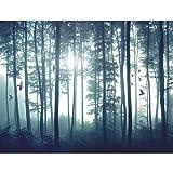 Fototapete Wald 396 x 280 cm - Vlies Wand Tapete Wohnzimmer Schlafzimmer Büro Flur Dekoration Wandbilder XXL Moderne Wanddeko - 9326012a