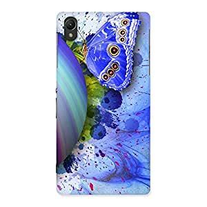 Cute Premier Blue Shell Butterfly Multicolor Back Case Cover for Sony Xperia Z2