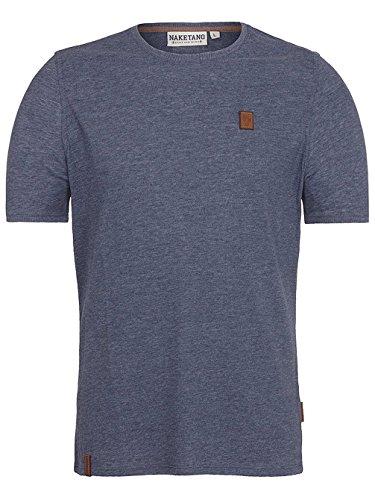 Naketano Male T-Shirt Italienischer Hengst VI bluegrey melange
