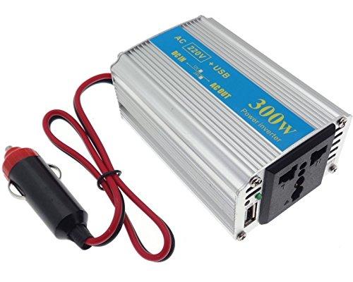 Zigarettenanzünder Inverter 300W AC/DC Wechselrichter Spannungswandler 12V 220V USB 5V Auto KFZ PKW