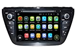 8 Zoll Doppel Din Android 5.1.1 Lollipop OS Autoradio für Suzuki SX4 2014 2015,DAB+ radio kapazitiver Touchscreen mit Quad Core 1.6G Cortex A9 CPU 16G Flash und 1G DDR3 RAM GPS Navi Radio DVD Player 3G/WIFI Aux Input OBD2 USB/SD DVR