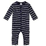 wellyou Baby und Kinder Schlafanzug/Pyjama aus Baumwolle in Marine weiß Gr. 68-74