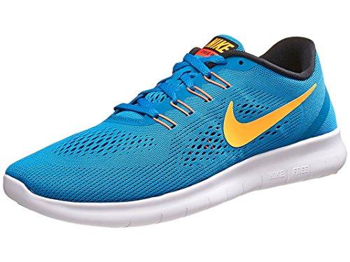 Nike Free Rn Scarpe da Ginnastica Blu (Hrtg Cyan / Lsr Orng-Blk-Bl Sprk)