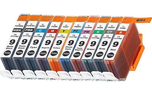 10 Compatibili PGI-9 Cartucce d'inchiostro per Canon