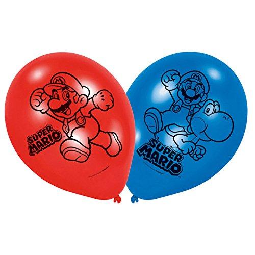 PARTY DISCOUNT Neu Luftballon Super Mario, 6 Stück (Erwachsene Toad-kostüm Für)