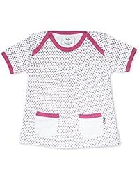 5b702069a8 Fozia Londres bebé niña de manga corta vestido de puntos rosa algodón  orgánico 6