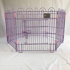 XIAOXUE Parc de clôture pour Animaux de Compagnie Stylos pour Chiens Pliant Combinaison Cage Barrière audacieuse Barrière de clôture pour Chien Sortie intérieure Voyage Porte de Protection