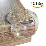Homery Eckenschutz und Kantenschutz transparent extra weich aus Kunststoff für Tisch und Möbel-Ecken - Stoßschutz für Baby's und Kinder (12 Stück)