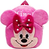 DZert Kid's Fabric (Minnie) Cartoon Toy Soft Plush Multicolour Backpack