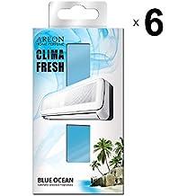Areon Clima Fresh Ambientador Océano Azul Casa Aire Acondicionado Original Perfume Hogar Salón Habitación Oficina Tienda