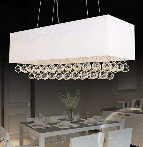 Suspension LED Kristall Moderne LED Kronleuchter Hängen Metall Acryl Art Deco Leuchte Decke LED 3 Lampe 30000 Karat Heißes Licht [Energieklasse A + +] (Decken-leuchte Deco Art)