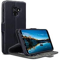 Coque Cuir Galaxy A8 2018, Terrapin Étui Housse en Cuir Ultra-mince Avec La Fonction Stand pour Samsung Galaxy A8 2018 Étui - Noir