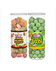 JUSTONE Fruit Hearts and Yummy Kacha Aaam Candy, 460 g