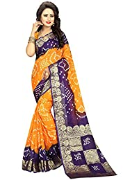 Refof Export New Arrival Pure Bandhani Art Silk Casual Wear And Work Wear Multi Color Saree From Directly Original...