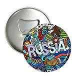 DIYthinker casino russia inverno fisarmonica illustrazione rotonda apribottiglie magnete del frigorifero pins distintivo 3pcs pulsante regalo Argento