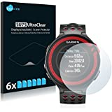 6x Screen Protector for Garmin Forerunner 220 Protection Film - Crystal-Clear, Bubble-Free