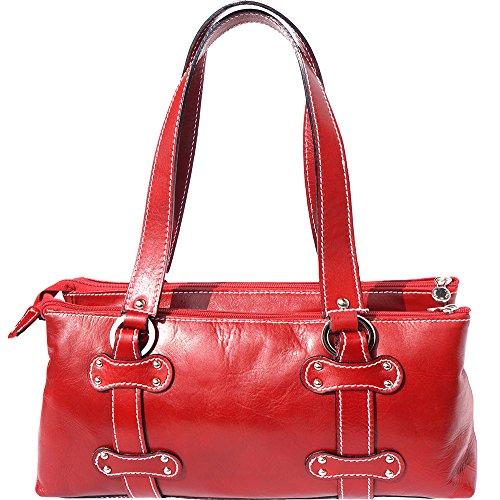 Sac à main femme en cuir 6541 Rouge
